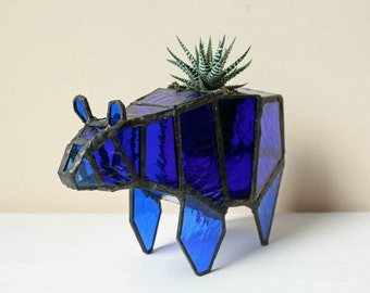 Blue Bear Origami Planter
