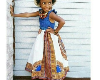 Dashiki midi length skirt