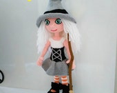 amigurumi cute witch (includes body with clothes and accesories)