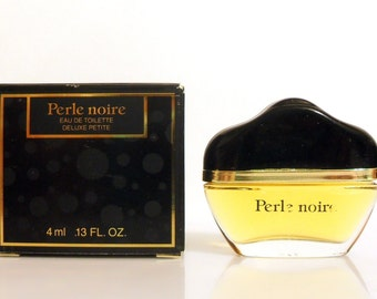 Vintage 1990s Perle Noire by Parfums Creatifs for Avon 0.13 oz Eau de Toilette Miniature Mini PERFUME