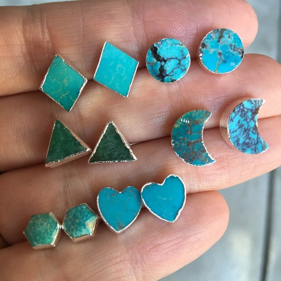 Turquoise earrings, turquoise jewelry