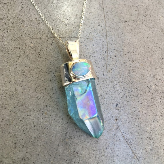 Angel Aura Crystal  necklace