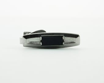 Onyx Etched Tie Clip - TT135