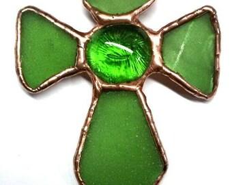 Green Glass Cross