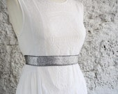 Silver belt, Silver dress belt, Woman dress belt, Elastic waist belt, Metallic belt, Stretch belt, Bridesmaid belt, Woman stretch belt
