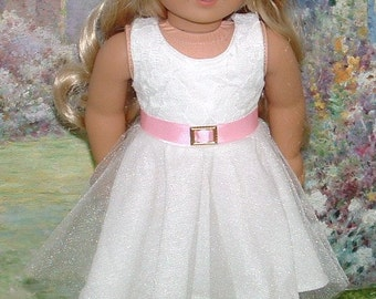 White Lace Knit Dress for American Girl Dolls