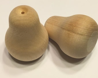 2 wood Pears, ready to paint and decorate, (BR)