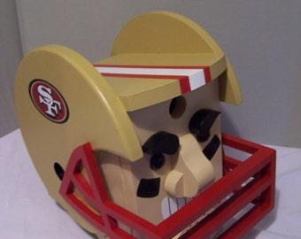 Football Helmet Bird House, San Francisco 49'ers