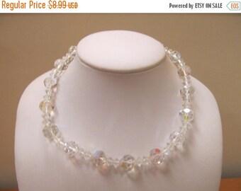 On Sale Vintage Sparkling Aurora Borealis Crystal Necklace Item K # 1378