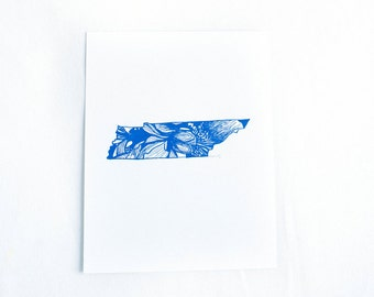 Letterpress Tennessee Iris