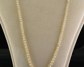 Sold--- Edwardian natural Basra pearl sapphire and diamond single string necklace