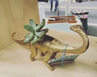 Animal Succulent Planter // Gold