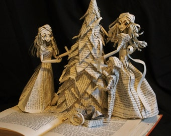 Trimming the Tree Book Sculpture