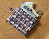 Small Sherlock wallpaper print zipper coin purse pouch