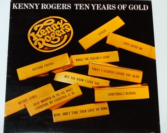 "ON SALE Kenny Rogers - Ten Years of Gold - ""Lucille"" - ""Ruby, Don't Take Your Love to Town"" - Liberty Records 1977 - Vintage Vinyl LP Record"