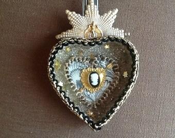 Valentine heart diorama