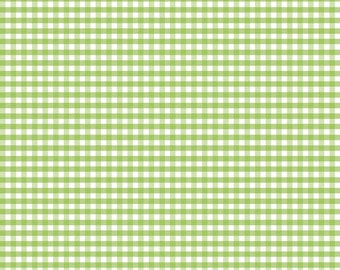 Green Gingham (Small Check) Fabric by Riley Blake