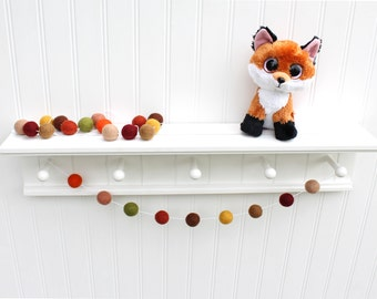 Autumn Harvest Felt Ball Garland, Pom Pom Garland, Nursery Decor, Bunting Banner, Party Decor, Holiday