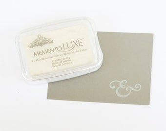 White Ink - White Ink Pad - Memento Luxe Ink Pad - White Stamp Pad - White Stamp ink - White Inkpad - White Stamp - Imagine Crafts