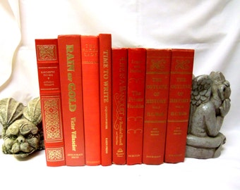 Bundle of 8 Bright Red Books
