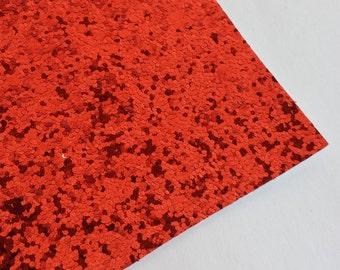 SALE 8x11 Red Chunky Glitter Fabric Sheet