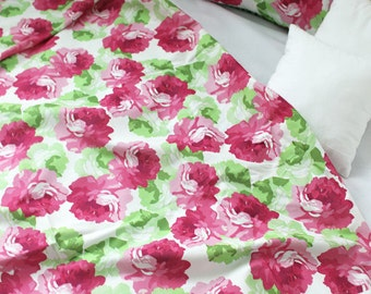 Roses Cotton Fabric, Floral Fabric - Fabric By the Yard 91528