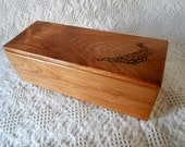 Custom Ordered Figured Cherry Two Compartment Recipe Box