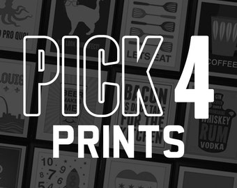 Pick Any 4 Prints from Benton Park Prints