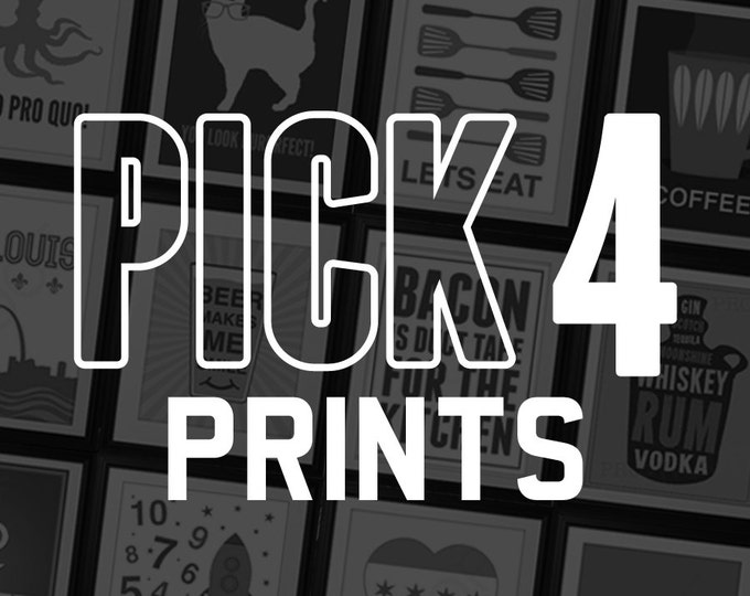 Featured listing image: Pick Any 4 Prints from Benton Park Prints