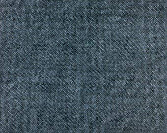 Hand Dyed Felted Wool - Blue Hydrangea Plaid