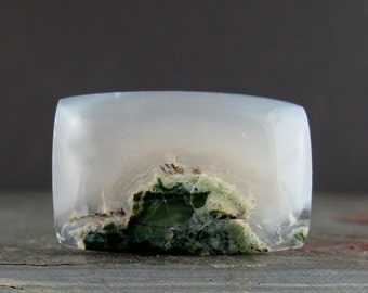 Gorgeous moss agate cabochon, Natural stone, Jewelry making supplies B6414