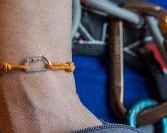 Functional Locking Carabiner  bracelet.  Charm for climbing