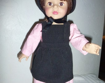 """18"""" Amish Doll Outfit  and Hat Fits American Girl, Madame Alexander and Gotz Dolls"""