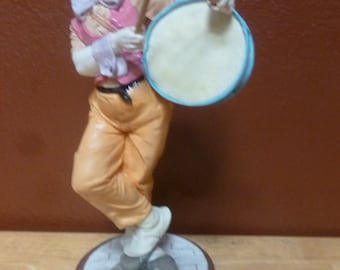Large Clown with Drum Mirella Collection 10 inches tall