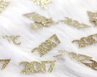 2017 Confetti - New Years Confetti. Graduation Party Decor. New Years Eve Decor. Happy New Year. Grad 2017. Graduation 2017. Senior 2017.
