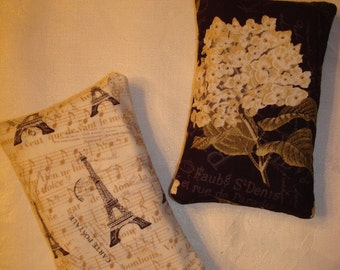 French Script/Hydrangea Purse Tissue Holders