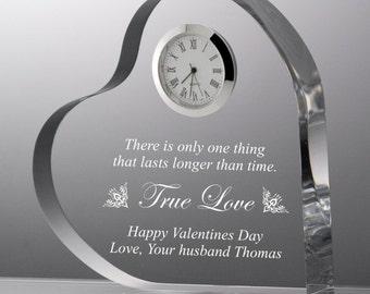 Engraved True Love Acrylic Heart