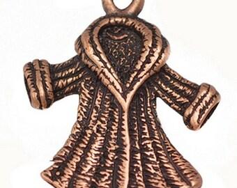 8pc 20x15mm antique copper finish lady jacket pendants-2919N