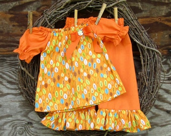 Girls Fall Outfit, Girls Pants and Top, Kids Fall Outfit, Thanksgiving outfit, Girls Fall Clothing