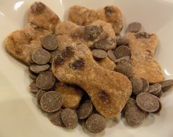 Peanut Butter Carob Chip Dog Treats Cookies One Pound Bag
