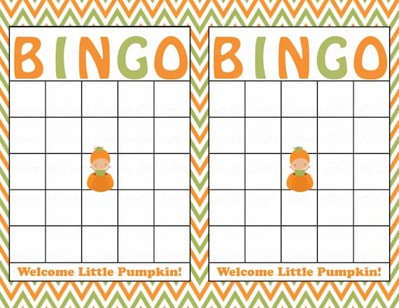 Blank Baby Shower Bingo Cards Printable Download Baby Boy