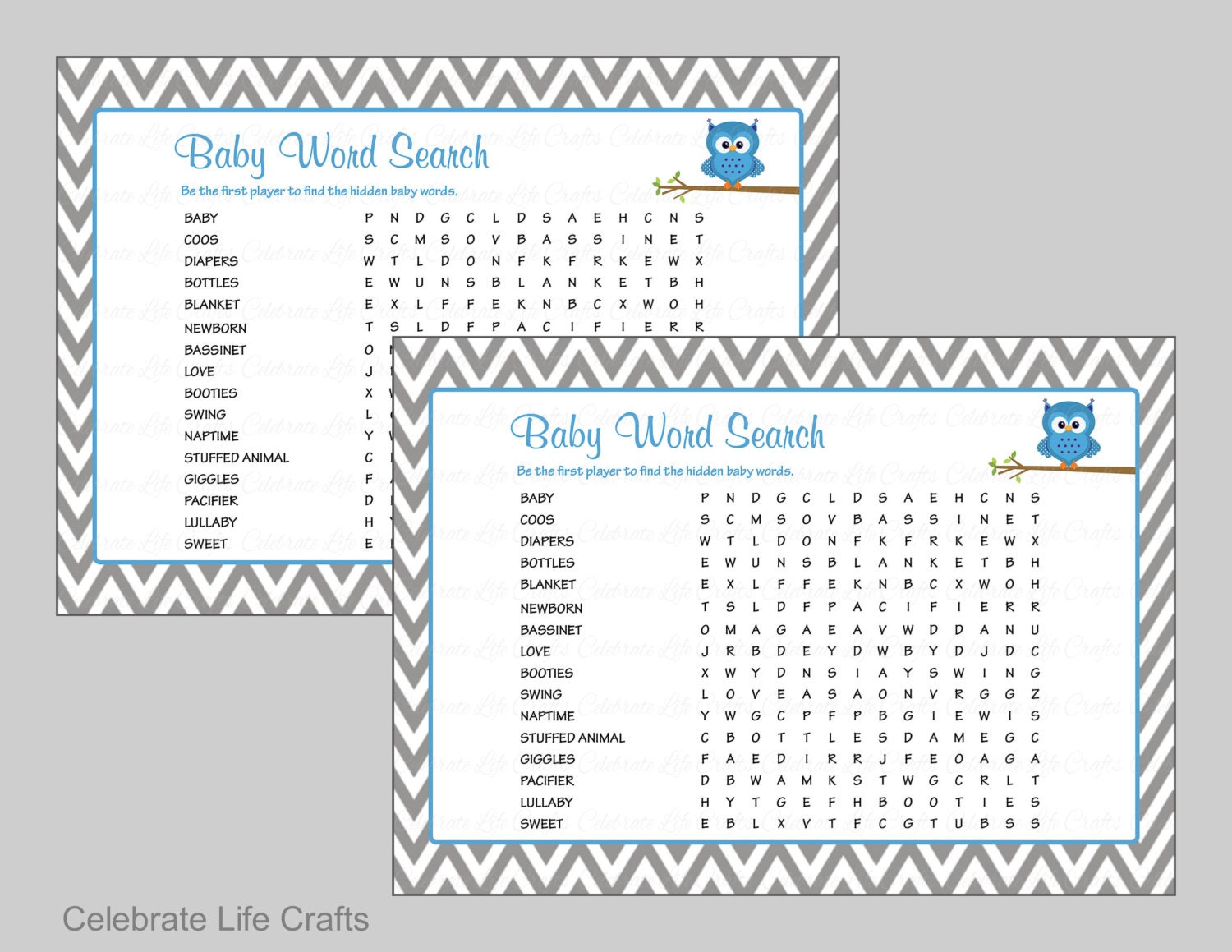 Monster image with printable baby shower games with answer key