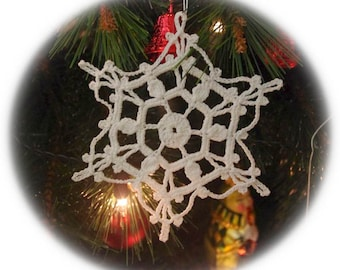 Crochet snowflakes ornaments Christmas decor White snowflake ornament White lace snowflakes Vintage Christmas decor D