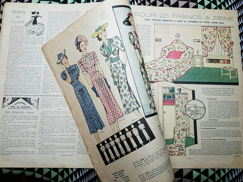 Rare antique french 1930 39 s paris art deco mode et maison for Decoration maison 1930 lille