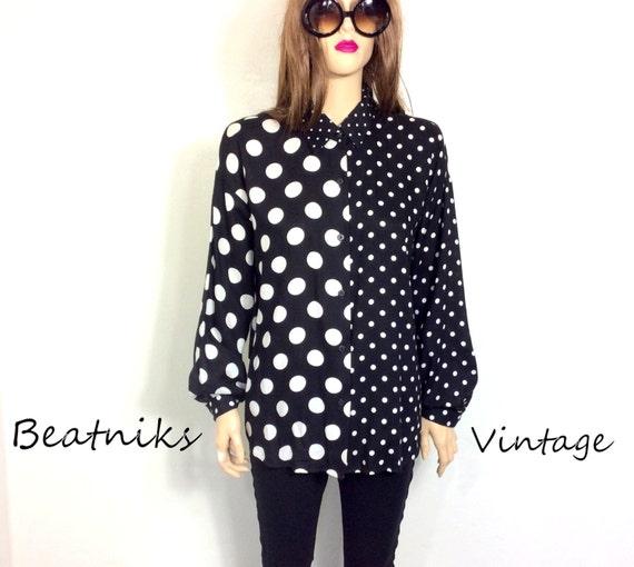 Black And White Dot Blouse 64