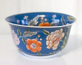 Large Vintage Floral Bowl