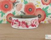 Leather & Vintage Lace Chick Cuff