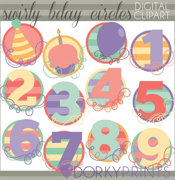 clipart birthday numbers - photo #24