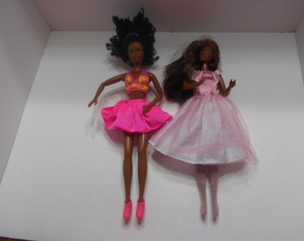 Two Vintage African American Barbie Dolls, 1990--Mattel (BP) (#24)