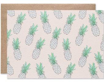 Pineapple Print Blank Folding Card